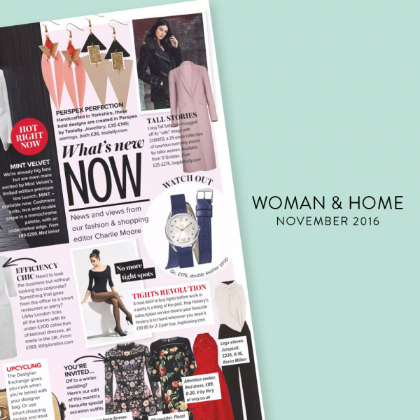WOMAN AND HOME - NOV 2016 | HRH, Blush Pink and Diamond Drops, Nude & Glitter - Toolally