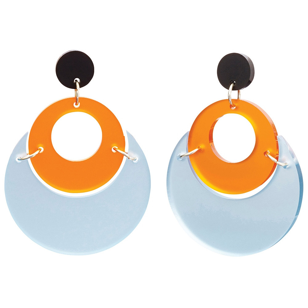 Toolally Statement Earrings - By Moonlight Arctic Blue