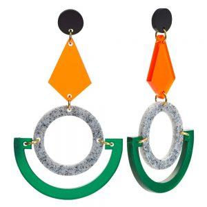 Toolally Statement Earrings - Boatman Green
