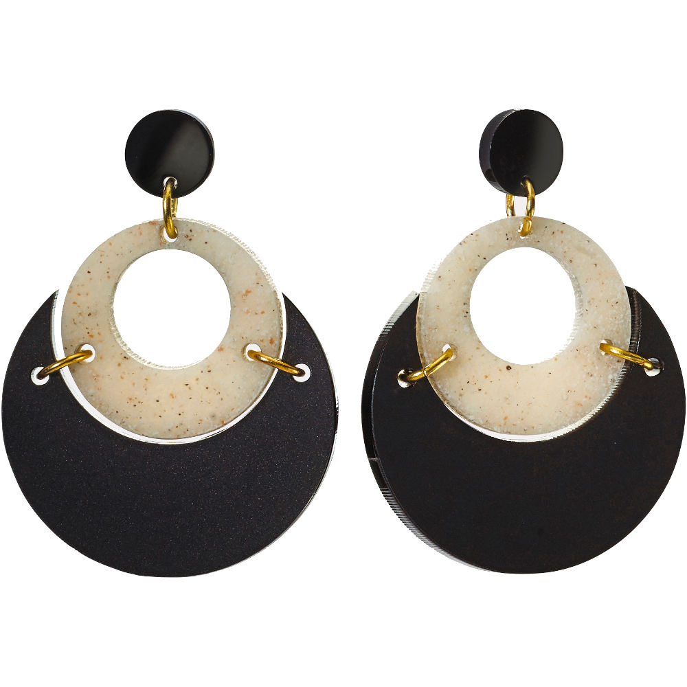 Toolally Statement Earrings - By Moonlight Stone