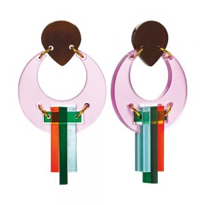 Toolally Statement Earrings - Peacocks Pink