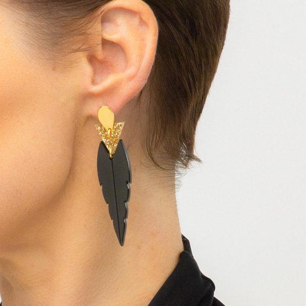Toolally mini Kingfishers black gold glitter lifestyle