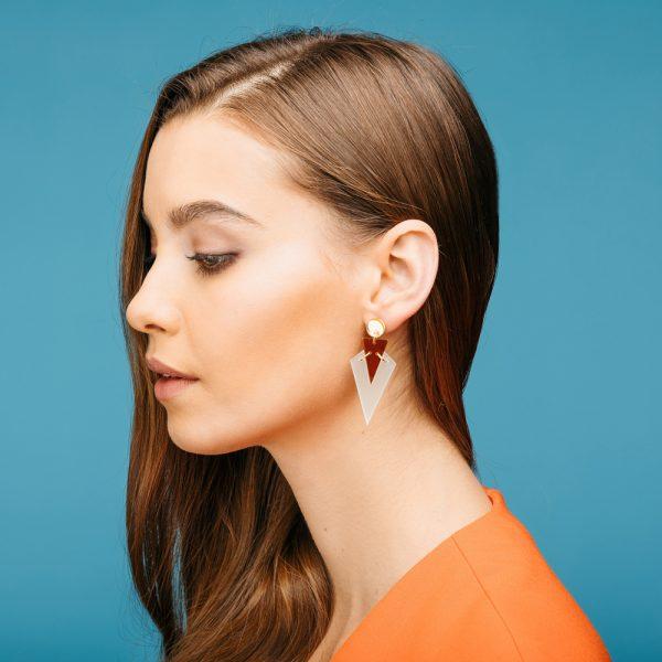 Toolally Statement Earrings - Green & Tortoiseshell