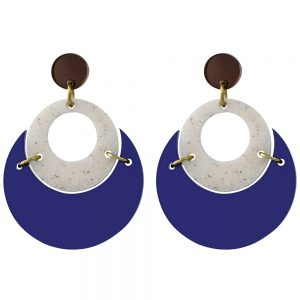 Toolally Statement Earrings - By Moonlight Sapphire
