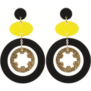 Toolally Statement Earrings - Cassies Saffron