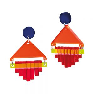 Diamond Squares, Red- Toolally Jewellery