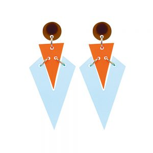Art Deco Droplets – Blue and Mandarin