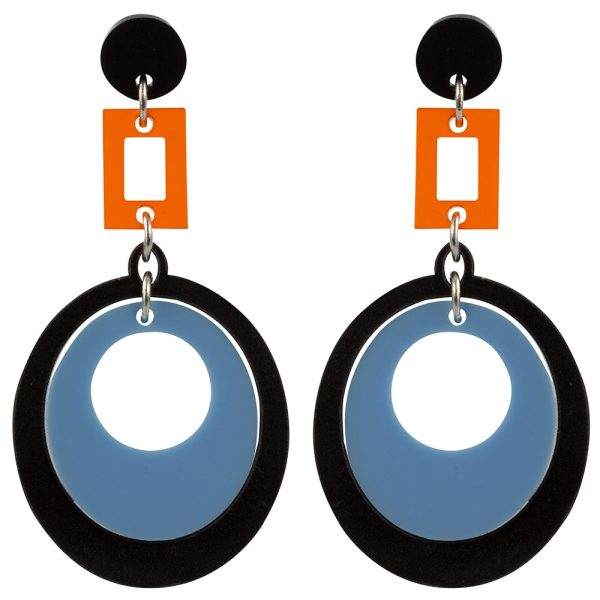 Toolally Statement Earrings - Hepworths Blue