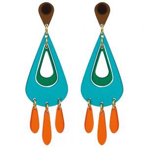 Toolally Statement Earrings - Tassels Azure