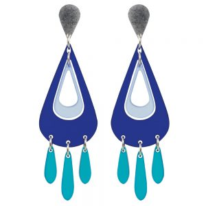 Toolally Statement Earrings - Tassels Sapphire