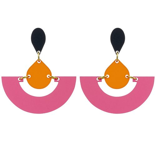 toolally_Fans_Raspberry_Mandarin_earrings