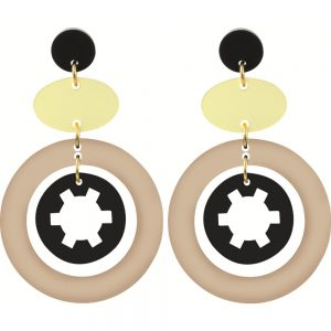 Toolally Statement Earrings - Cassies Nude