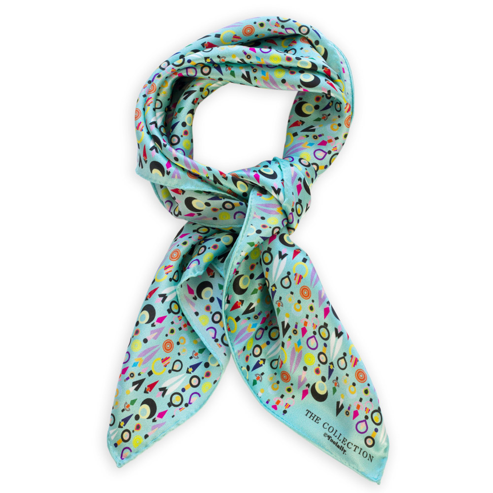 the collection scarf blue small toolally