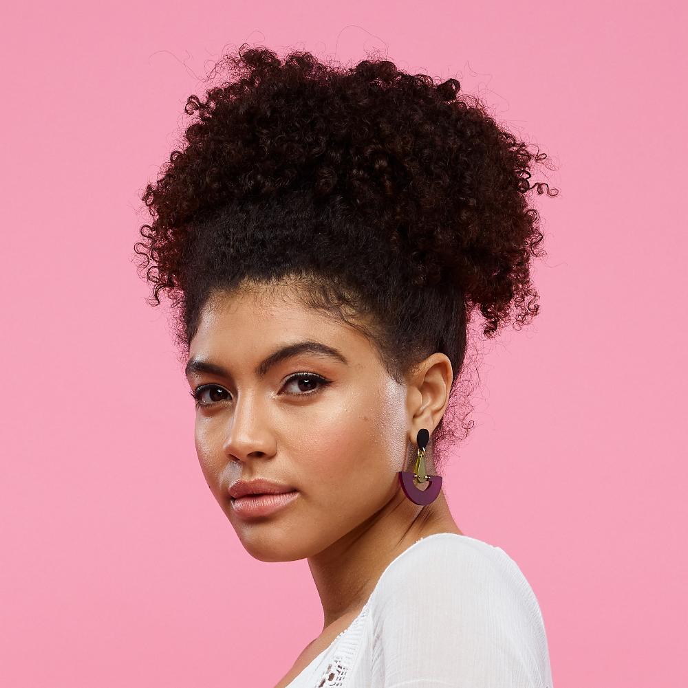 Toolally Statement Earrings - Fan Droplets Plum & Lime