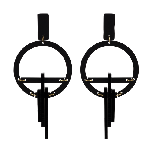 Toolally_Luxe_Hoop Drops_Black_earring_product