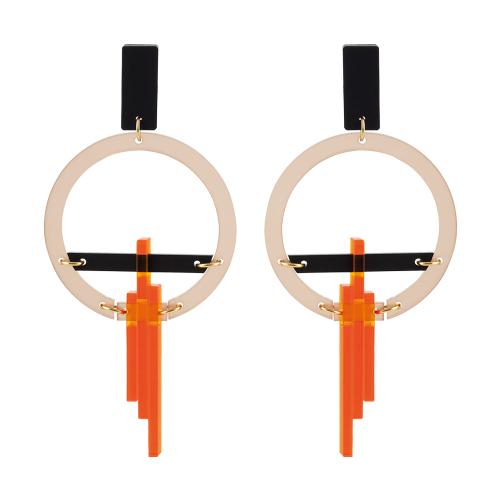 Toolally_Luxe_Hoop Drops_Nude_Mandarin_earring_product