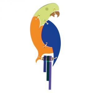 The Parrot Brooch - Lime Zest & Sapphire