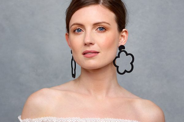 Daisy Hoops - Black | Toolally app lifestyle image