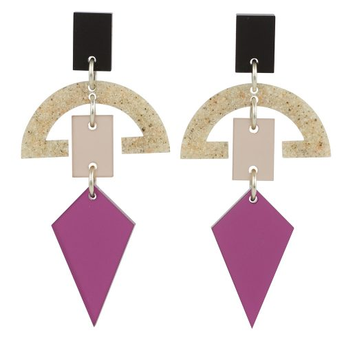 Half Moon Drops, Plum & Sandstone | Toolally product images 1000x1000