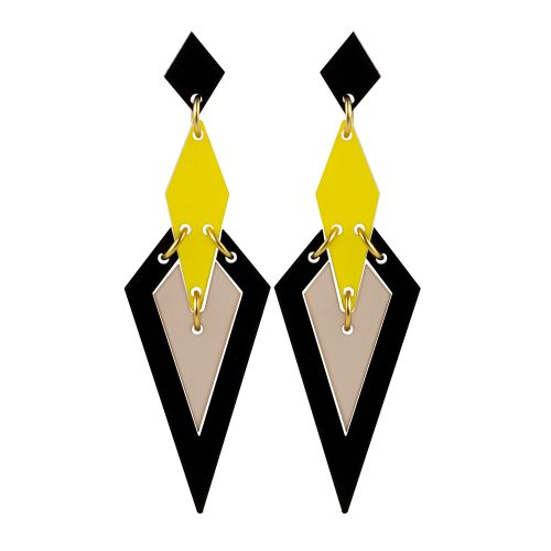 Iris Earrings in Saffron Nude 1000x1000 -Toolally