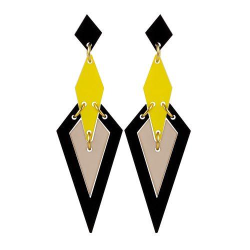 Iris Earrings in Saffron Nude 1000x1000 -Toolally