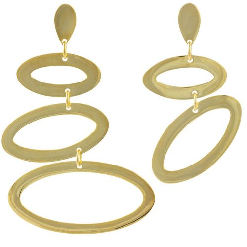 Asymmetric Ellipses - Gold