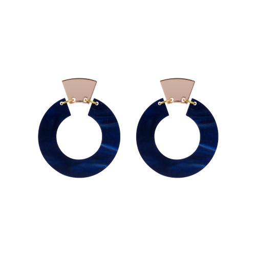 Petite Shift Hoops_Navy Pearl