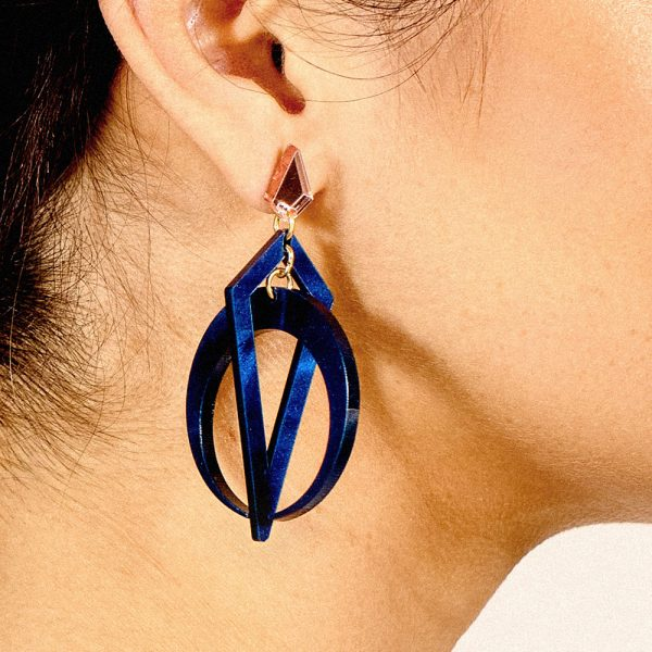 Toolally_Classic_Crescent_Hoops_Navy_Pearl_Lifestyle_2