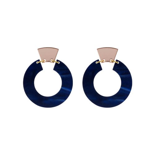 Toolally_Petite_Shift_Hoops_Navy_Pearl
