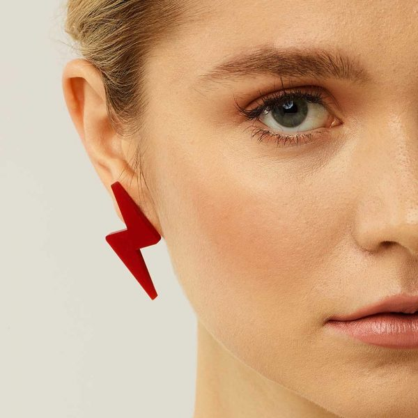 Toolally_Everday_Bolts_Red_Lifestyle_earrings