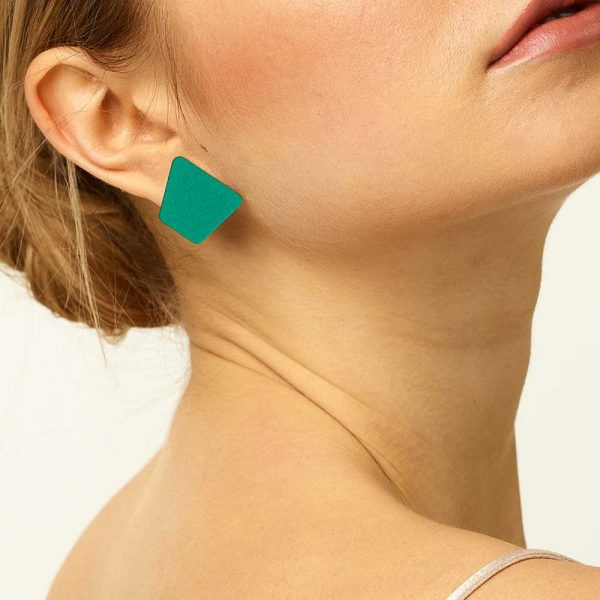 Toolally_Everday_Trapeziums_Green_Lifestyle_earrings