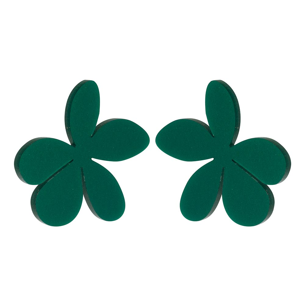 Toolally_Kat Maconie Daisies - Royal Green_green_earring_product_png