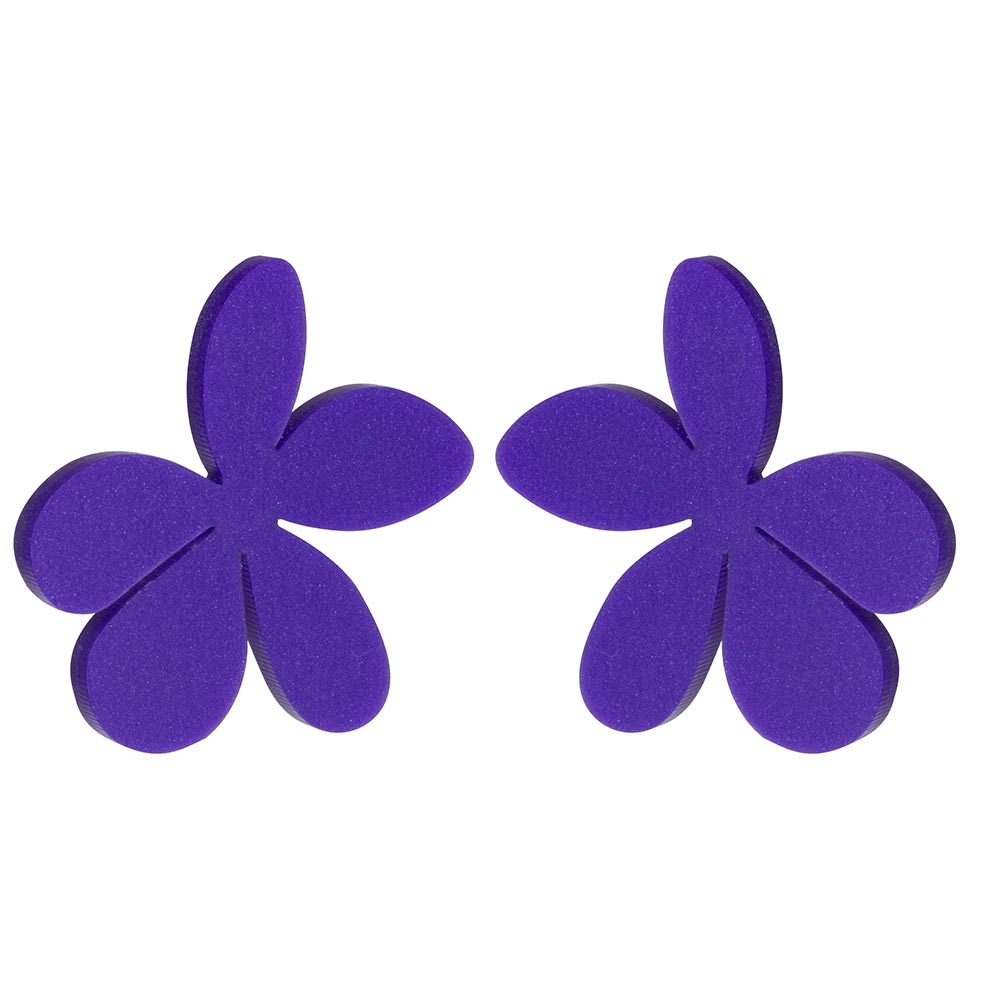 Toolally_daisies Kat Maconie Daisies - Royal Purple_earring_product_png
