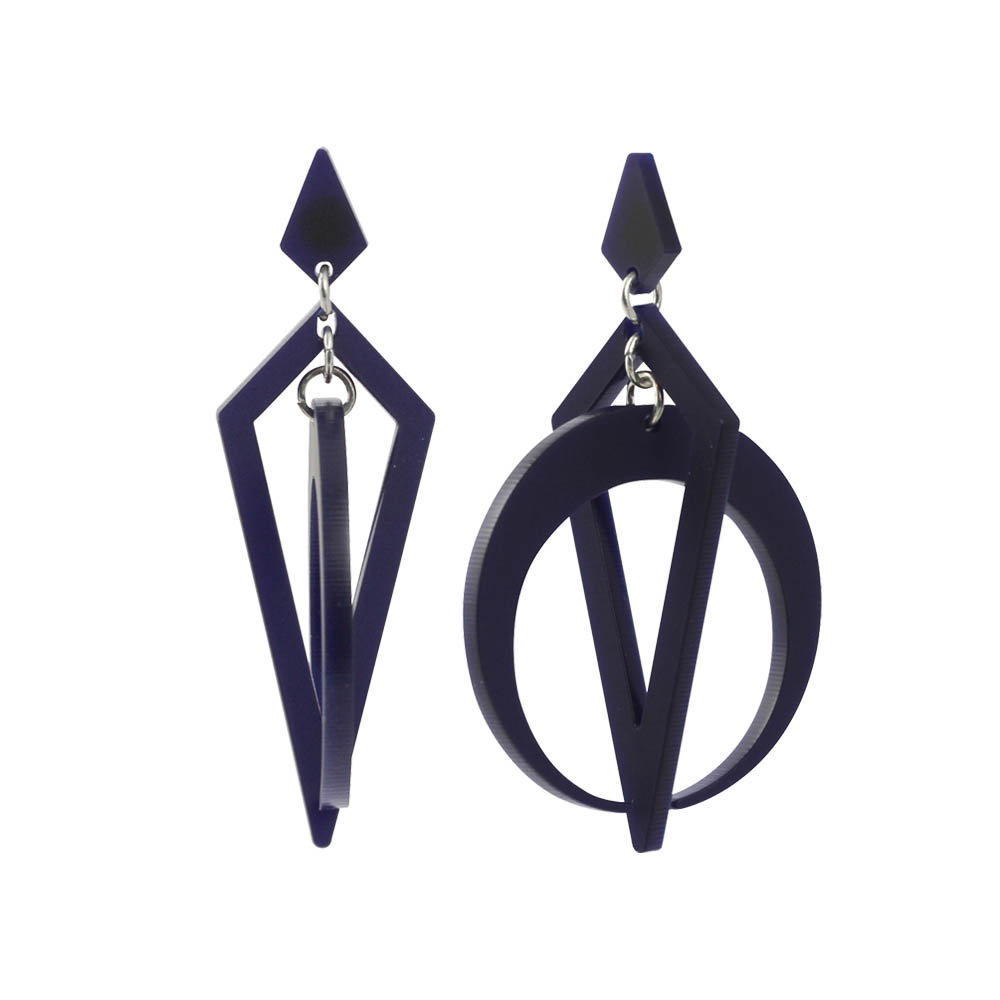 toolally_Classic_Crescent_Hoops_Navy_earring_product