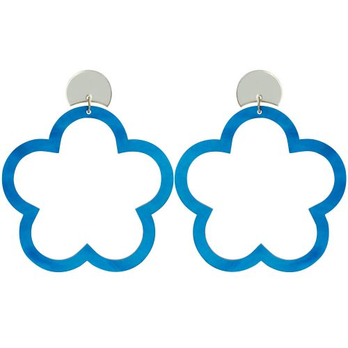 Toolally_Daisy_Hoops_Blue