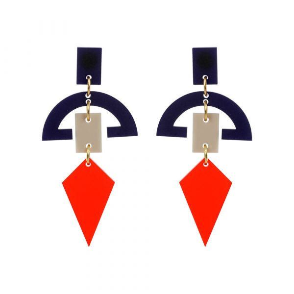 Toolally_Half_Moon_Drops_Chilli_Red_Navy_&_Beige