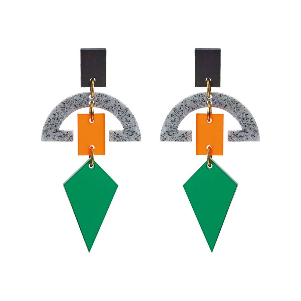 Toolally_Half_Moon_Drops_Green_&_Orange