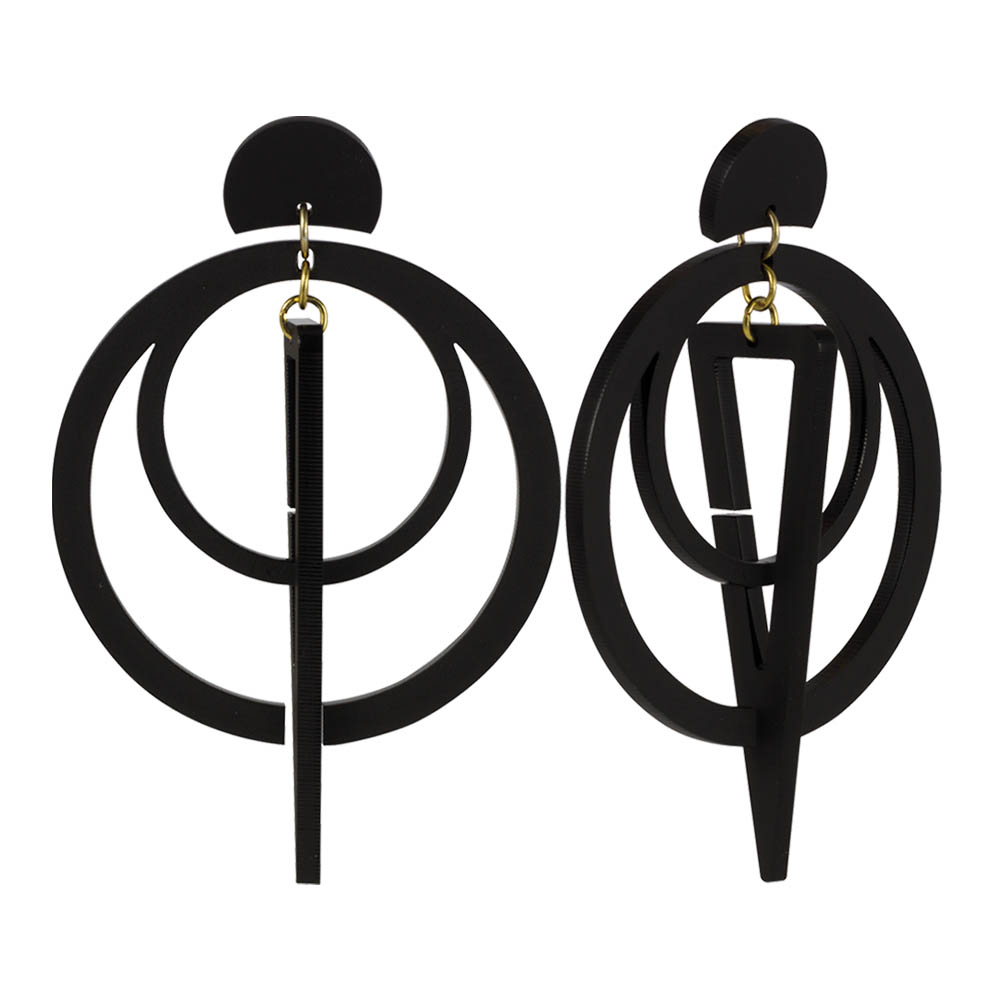 toolally_Classic_Sundails_black_earring_product