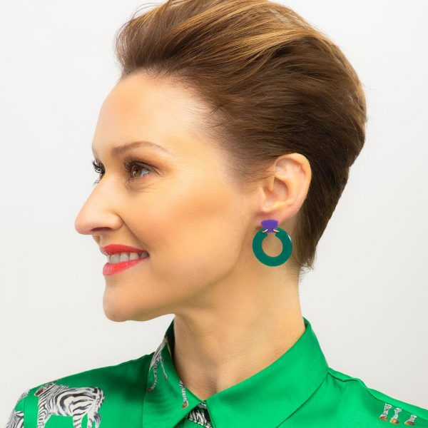 Toolally Petite Shift Hoops Royal Green Lifestyle 1