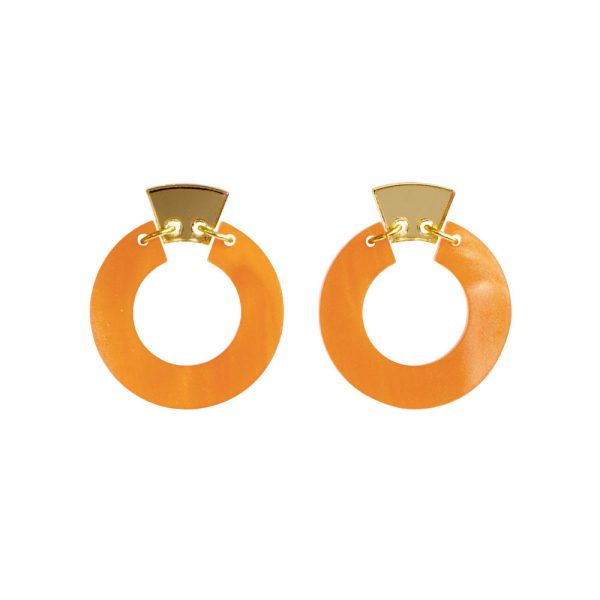Toolally_Petite_Shift_Hoops_in_Orange_Marble