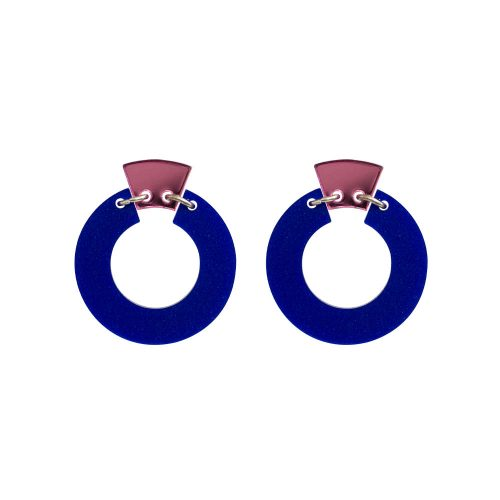 Toolally_Petite_Shift_Hoops_in_Royal_Blue_and_Pink_Mirror