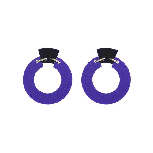Toolally_Petite_Shift_Hoops_earrings_in_Royal_Purple
