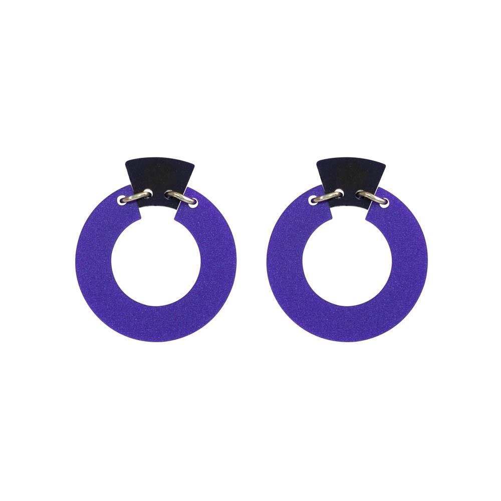 Toolally_Petite_Shift_Hoops_earrings_in_Royal_Purple