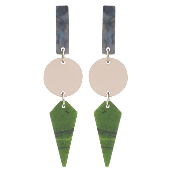 Toolally Recycled 8 Earrings jade