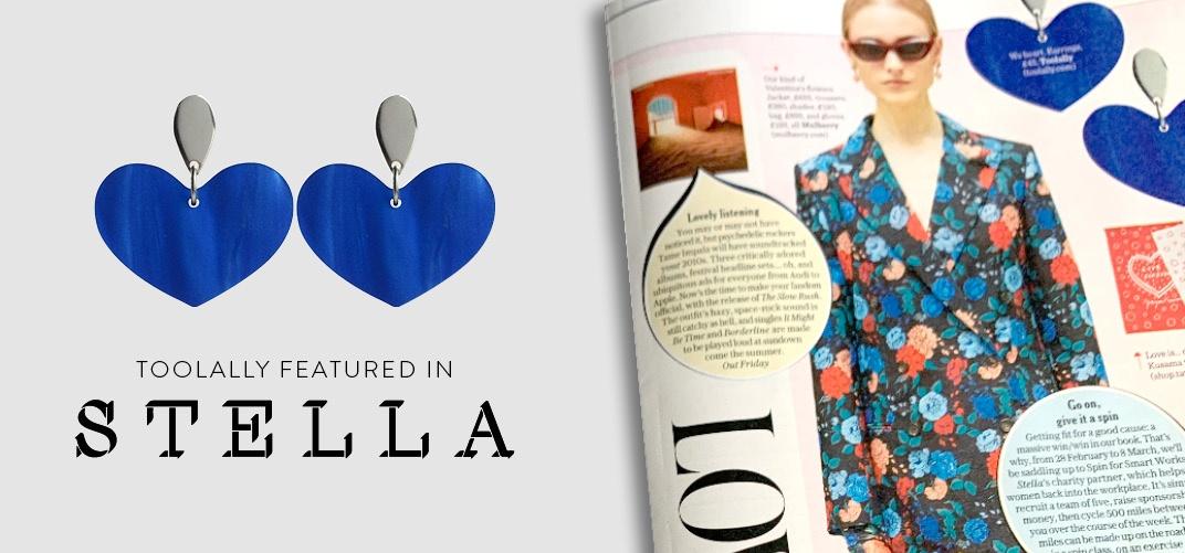Toolally heart earrings Stella loves magazine