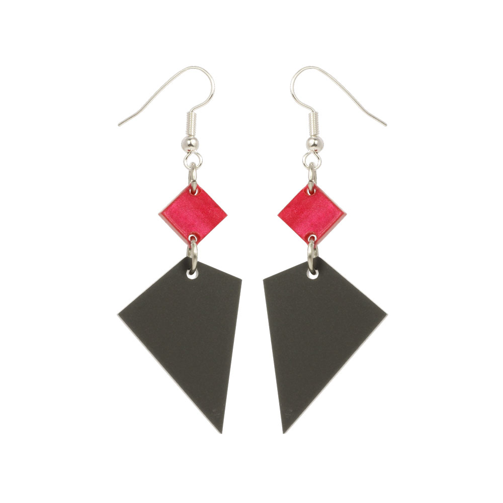 Toolally Recycled 15 - Cerise and Grey