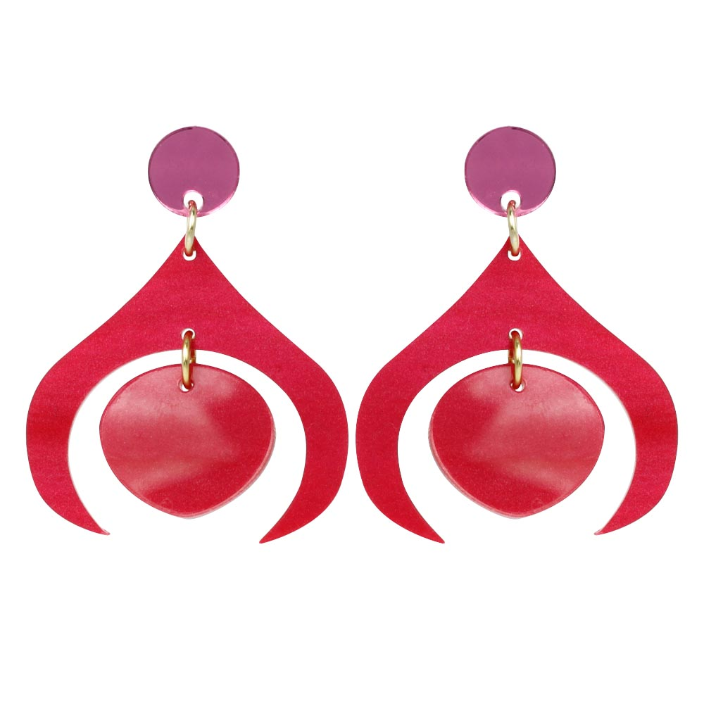Toolally_Recycled_26_Cerise_earring