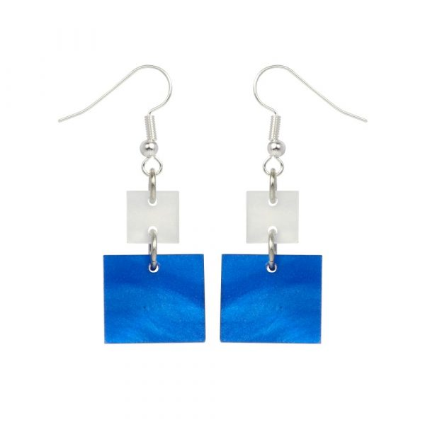 Toolally_Recycled_27_Blue_marble_white_marble_earring