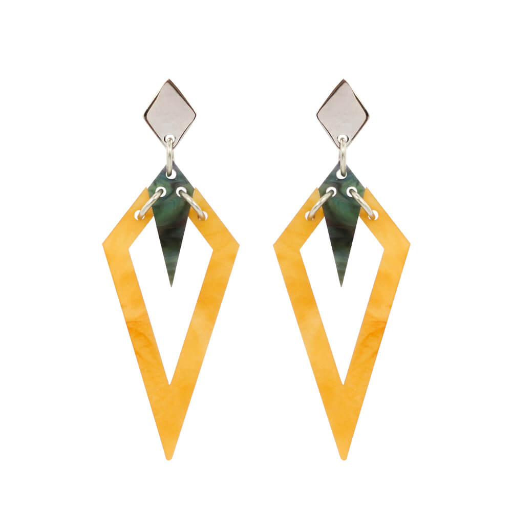 Toolally Arrowead Earrings in Mica and Abalone Image