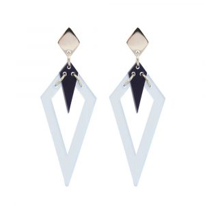 Toolally Arrowead Earrings in electric blue and navy Image